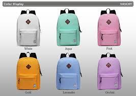 VASCHY <b>Men Women Backpack</b> College High Middle School Bags ...