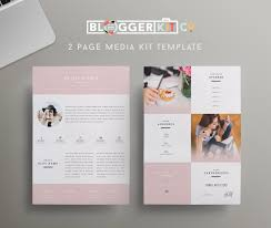 two page media kit template press kit template by bloggerkitco two page media kit template press kit template by bloggerkitco