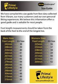 Size Guide Primallifestyle