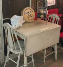small round drop leaf kitchen table white chalk paint table is a nashville flea market find