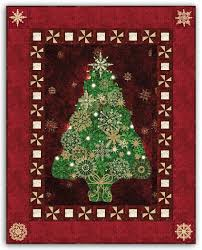 NEW Colors! Red & Green - Christmas Tree Bright Lights Starlight ... & Red & Green - Christmas Tree Bright Lights Starlight Christmas Wallhanging  Quilt Kit Plus Optional Swarovski Hotfix Crystal Pack Review Adamdwight.com