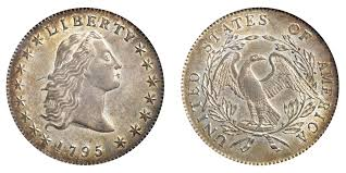 1795 Flowing Hair Silver Dollar 3 Leaves Coin Value Prices