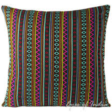 black pink striped dhurrie colorful decorative boho couch cushion sofa throw pillow cover 16