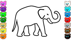 Coloring pages for kids elephants coloring pages. Indian Elephant Coloring Pages Youtube