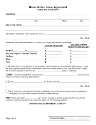 Free Printable Rental Lease Agreement Form Template Bagnas House