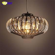 fumat vintage metal chandelier loft industrial k9 crystal lights for living room bar restaurant black re crystal chandeliers blue pendant lighting