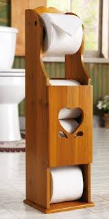 Get Quotations  Wooden Heart Toilet Paper Storage Holder