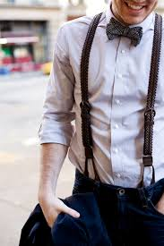 leather woven suspenders mens fashion blog