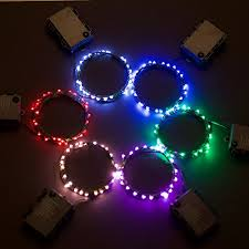 rtgs micro led 60 super bright cold white color indoor and outdoor string lights battery operated
