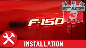 2009 2014 ford f 150 recon illuminated side emblems installation Ford Symbol at Illuminated Emblems Ford Wiring Diagram