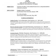Free Teacher Resume Builder Freesume Special Education Teacher For Teachers Aide Elementary 67