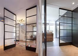 steel glass doors. Indoor Door / Pivoting With Offset Axis Steel Security Glass - By Marc Prosman Architecten Doors E