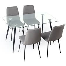 table and chairs. gerona glass table and four chairs set dining
