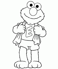 Small Picture Elmo Coloring Pages To Print Coloring Home