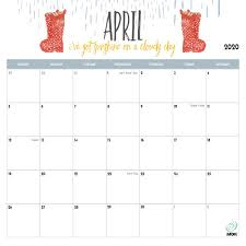 Free 2020 Monthly Calendar Template 2020 Printable Calendars 9 Free Printable Calendar Designs