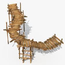 Wooden Bridge Game Wooden Bridge Textured 100D model CGTrader 14