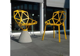 chair one. chair one with concrete base magis c