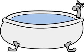 bathtub clipart hot bath 2