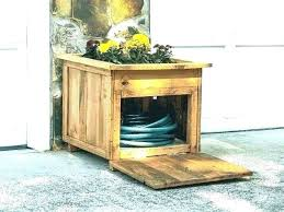 garden hose reel container box fire hideaway storage best modern reels ideas mid century