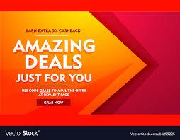 amazing deals offer banner vector image