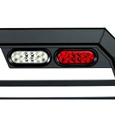 truck rack with lights low pro all aluminum usa made How To Wire Strobe Lights On Truck oval shaped backup light and brake light on a truck rack Strobe Lights On Cars
