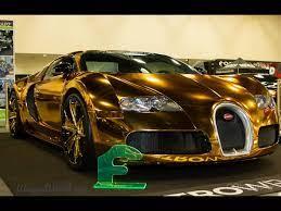 Bugatti's la voiture noire cost almost $19 million and only one will be made. Golden Gatti Flo Rida S Gold Chrome Wrapped Bugatti Veyron Drivespark