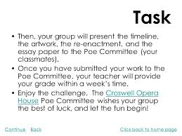 edgar allan poe poe s background students assignments teacher s 11 task
