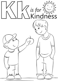 Small Picture Letter K is for Kindness coloring page Free Printable Coloring Pages