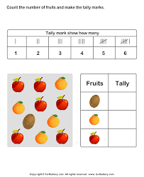 Teaching Tally Charts Record Data With Tally Charts Worksheet Turtle Diary