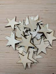 details about 1 mini wood stars laser cut flag making wooden stars diy craft supplies