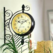 vintage decorative double sided metal wall clock antique style station hanging traditional in clocks from home big wall clock vintage