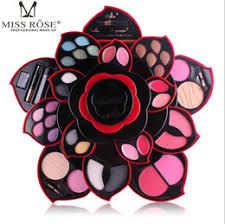 professional makeup kit the ultimate color collection multifunctional cosmetic collection party wear makeup revolving big flower palette
