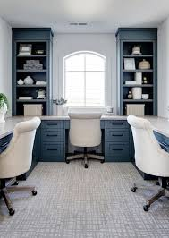 25 chic blue home offices in various