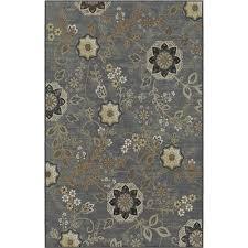 korhani home lantana rectangular grey floral area rug grey floral area rug75 floral