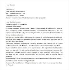 12 contract termination letter templates free sample example pertaining to contract termination letter