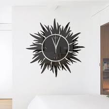 fashion diy the sun acrylic mirror wall stickers wall clock stickers