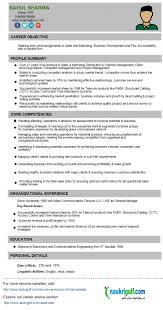 Business Development Manager Cv Format Resume Sample How To Write A