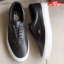 vans vans sneakers mens womens classics era classics era perf leather black vn