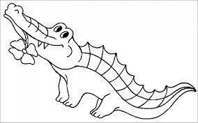 Tổng hợp các bức tranh tô màu cá sấu cho bé tập tô