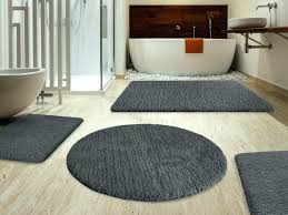 black bath rugs home bathroom modern mat target grey rug 3 piece set
