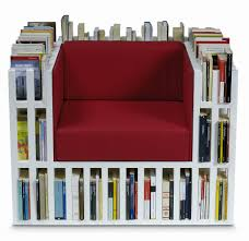 one cool or crazy thing bibliochaise is a chair and a bookcase in one