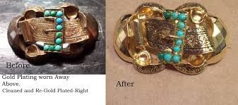 gold plated pin before and after gold plating