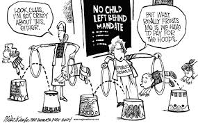 Children Education Cartoons Political Cartoons Of No Child Left Behind School Education