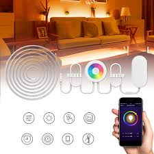Light Strips That Work With Alexa 2m Waterproof Smd5050 Rgb Smart Wifi Led Strip Light Work With Alexa Echo Voice Control Dc12v
