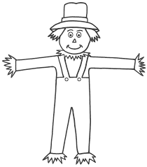 Small Picture scarecrow coloring pages Free Large Images ART Ideas