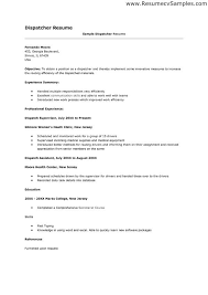 Truck Dispatcher Resume Examples