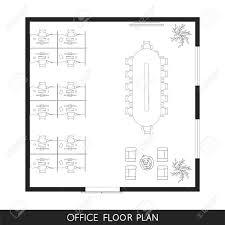 オフィス インテリア計画平面図