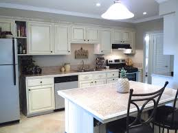 ... Outstanding Galley Kitchen Designs With Island : Cool White Distressed Galley  Kitchen Design Ideas With Marble ...