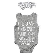 Oldeagle Unisex Toddler Kids Baby Boy Girl Bodysuit I Love