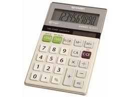sharp el tb solar and battery powered four function tax sharp el 377tb twin powered four function calculator